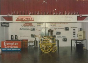 Early Osborne Motors Bodies Stand at Trade Show