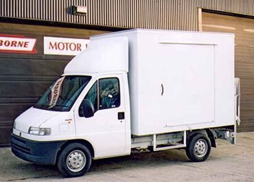 Commercial Vehicle Bodies inc  Milk floats & Glass Carriers
