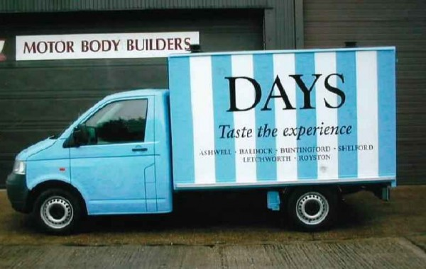 Special Box Van developed for Days Bakery