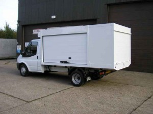"Ford Transit 350 ""Quickload""™ with Closed Shutters"
