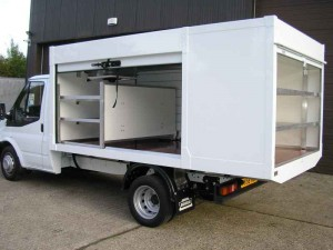 "Ford Transit 350 ""Quickload""™ with Open Shutters"